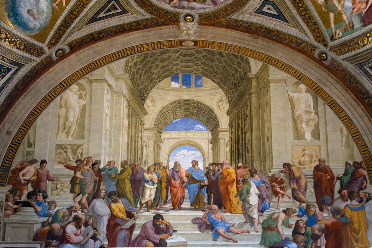 Aristotle with Plato in The School of Athens
