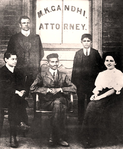 Gandhi, attorney at law, in his law office