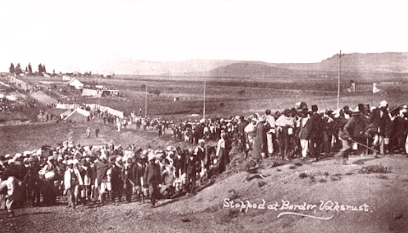 The Satyagraha procession is stopped at Volksrust border