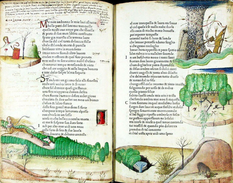 Commentary and illustrations which were added later, attributed to Antonio Grifo