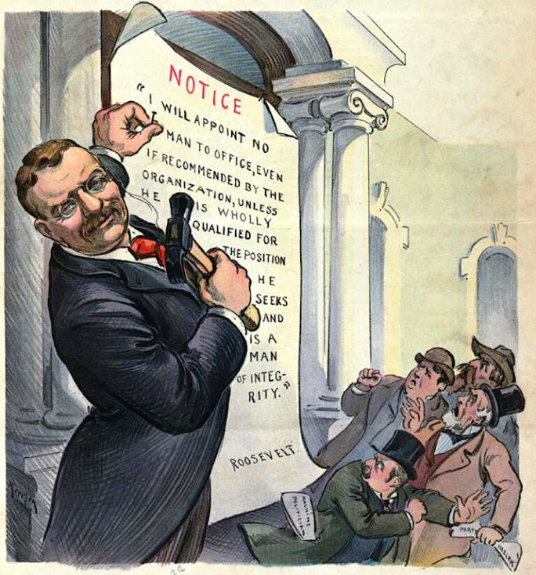 Theodore Roosevelt upheld the practice of appointment on merit
